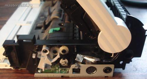 снять боковую крышку сканера Canon DR-2580C