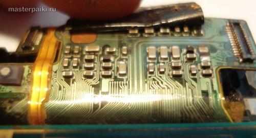 сюда вода не попала внутрь смартфона Sony Ericsson Xperia Arc S LT18i