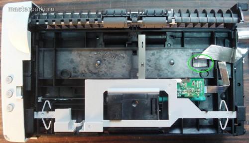 отсоединить шлейф оптики сканера Canon DR-2580C