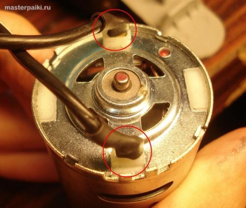 контакты двигателя китайского авто компрессора