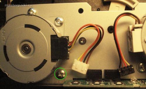 открутить винты сканера Canon DR-2580C