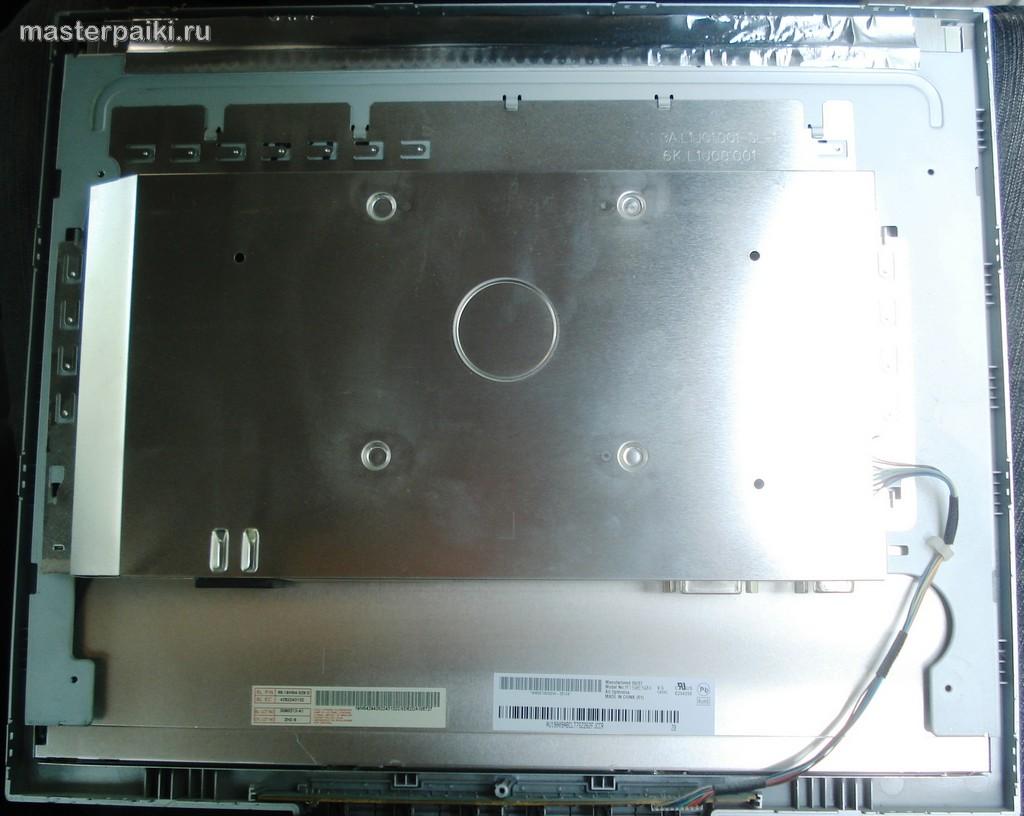 5-задняя панель матрицы ЖК монитора BenQ Q9T4. задняя панель матрицы ЖК монитора BenQ Q9T4.
