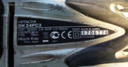 Мощность перфоратора Hitachi DH 24PC3