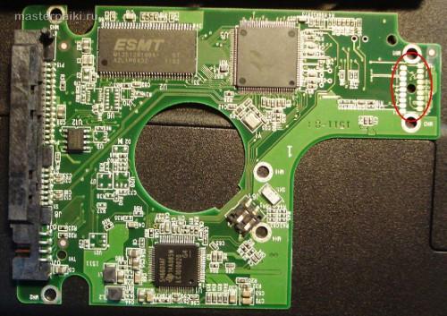 плата жесктого диска ноутбука Acer Aspire 5750