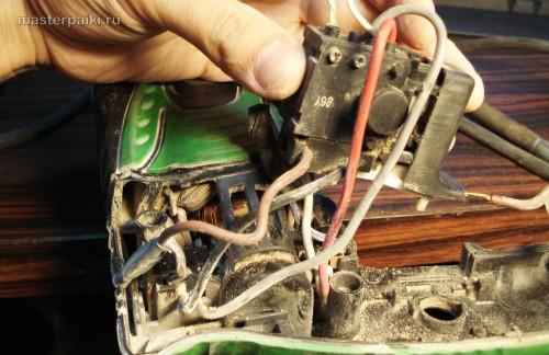 замена кнопки перфоратора Hitachi DH 24PC3