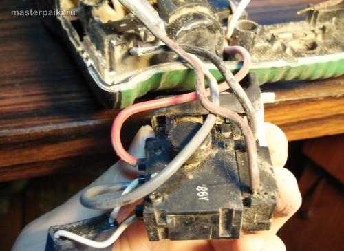 замена переключателя перфоратора Hitachi DH 24PC3