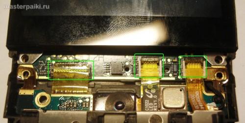 отсоединяем шлейфы смартфона HTC Hero A6363.JPG