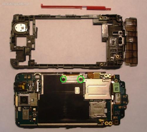 плата и рамка смартфона HTC Hero A6363.JPG