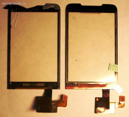 старый и новый тачскрин смартфона HTC Hero A6363.JPG