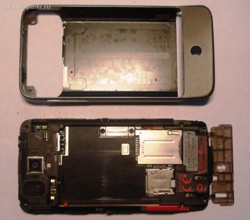 плата и корпус смартфона HTC Hero A6363.JPG