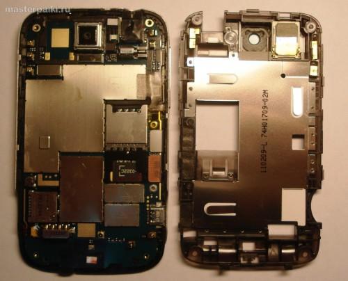 10- снять заднюю часть корпуса смартфона HTC Wildfire A3333