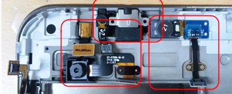 отключаем шлейфы камеры и прочего Samsung Galaxy Tab2 P3100