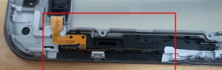 отключаем шлейфы кнопок Samsung Galaxy Tab2 P3100