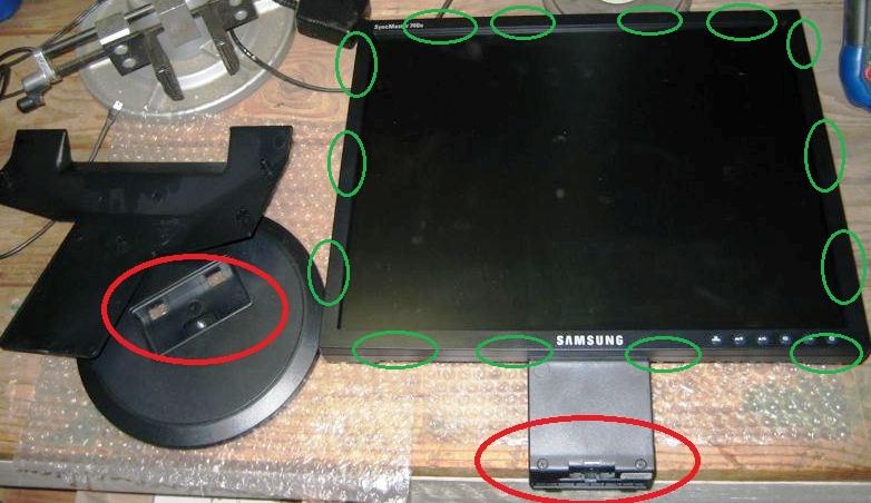 Разборка и ремонт монитора