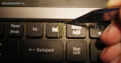 06-защелка клавиатуры Acer Aspire 5750G
