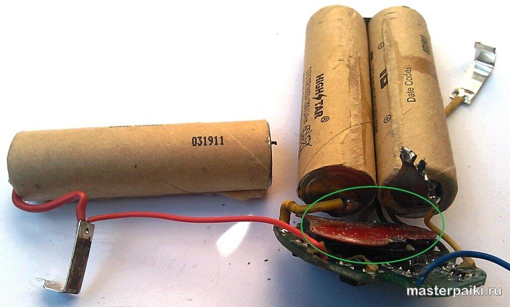 Ремонт литиевого аккумулятора для шуруповёрта своими руками 588