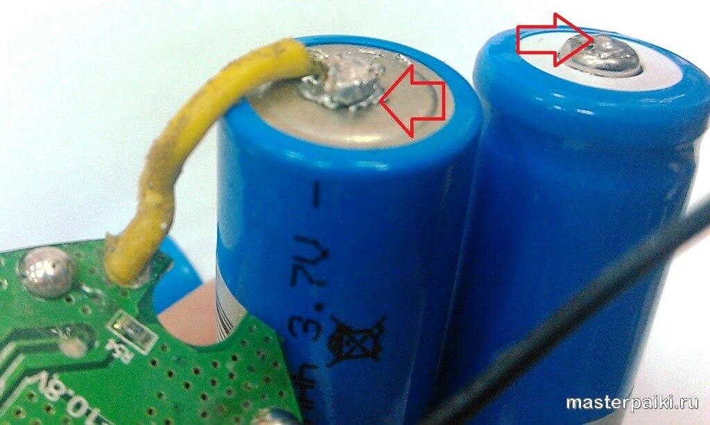 пайка проводов к контактам литевых элементов питания своими руками