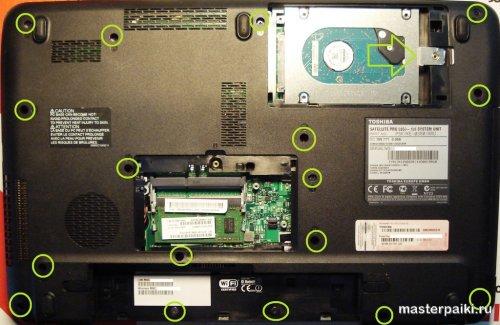разборка и ремонт ноутбука тошиба