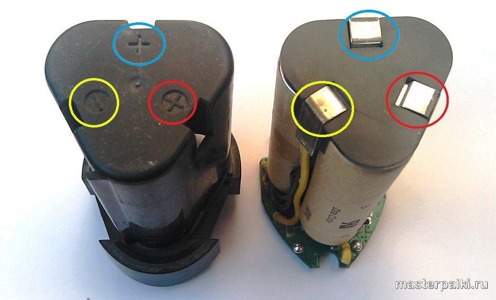 правильная распиновка батареи шуруповерта интерскол