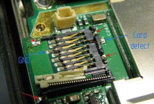 слот карты памяти видеорегистратора
