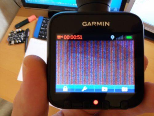 полосы на изображении дисплея видеорегистратора