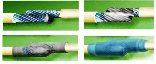 как соединить два кабеля