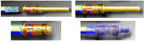 обжимной контакт для соединения двух проводов