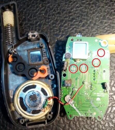 почистите кнопки переключения режимов рации Jet mini