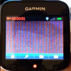 чиним полосы на экране видеорегистратора Garmin GDR 35