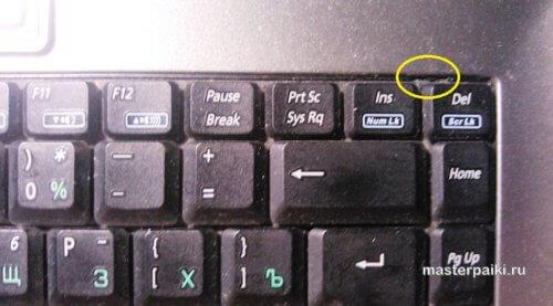 где находится защелка для снятия клавиатуры ноутбука ASUS X51RL