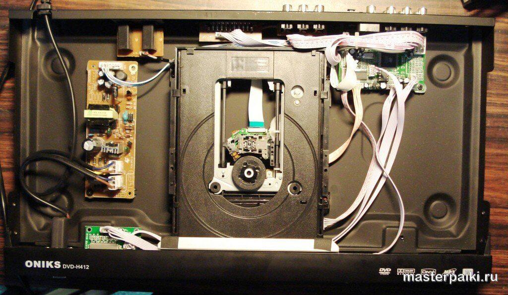 внутренности DVD плеера ONIKS DVD H412