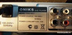 ремонт DVD-плеера ONIKS DVD-H477 в домашних условиях