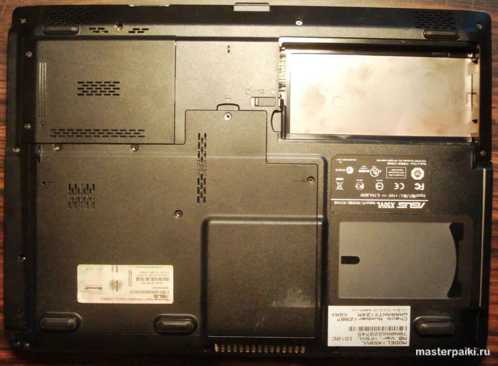 разборка ноутбука Asus X50VL