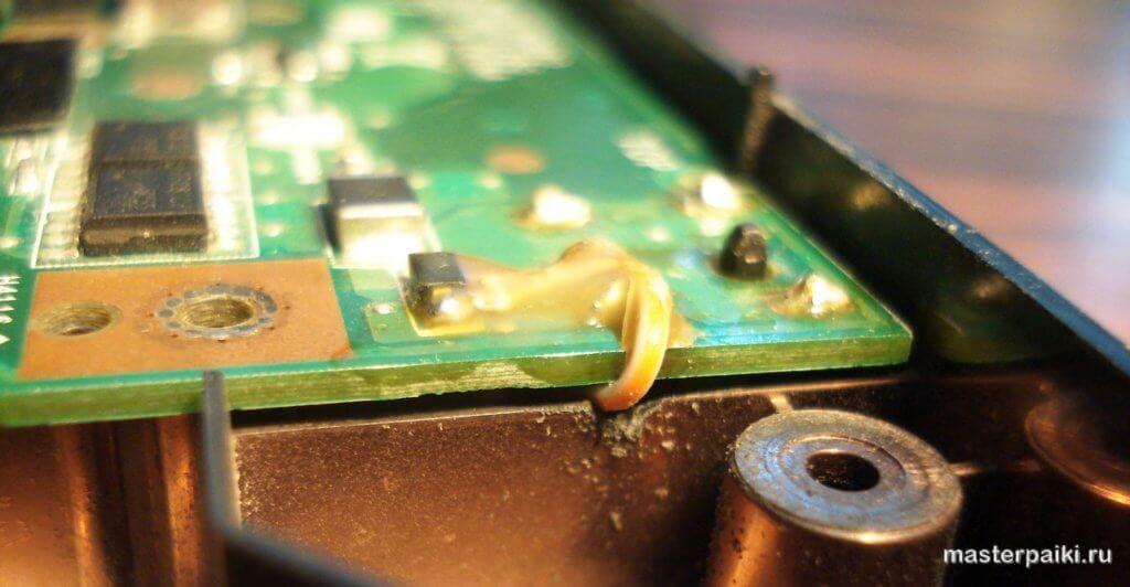 установка платы в корпус ноутбука Asus X50VL