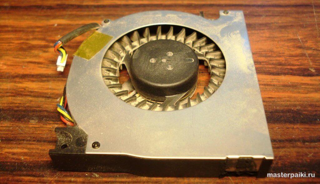 запыленный кулер ноутбука Asus X50VL