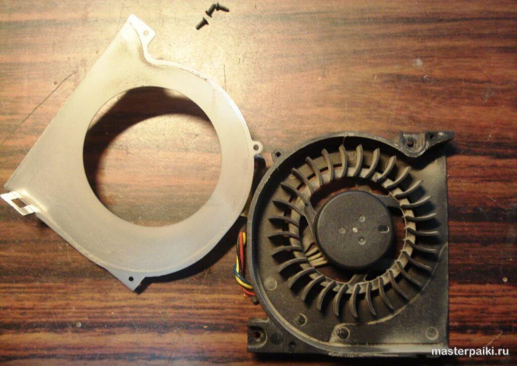 разборка кулера ноутбука Asus X50VL
