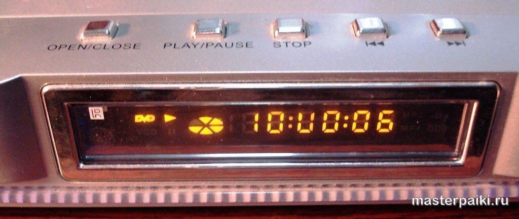 индикатор DVD-плеера ONIKS DVD-H477