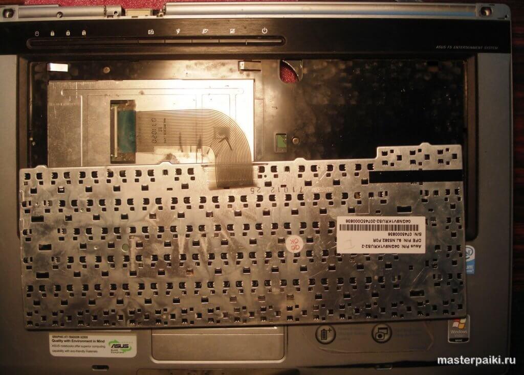 как снять клавиатуру ноутбука Asus X50VL