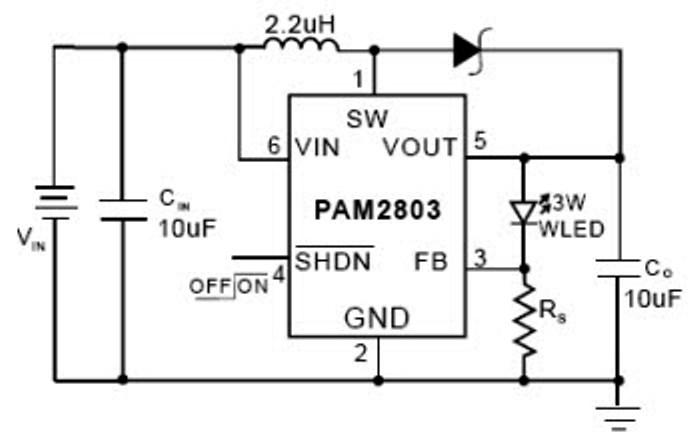 схема включения драйвера китайского светодиодного фонарика