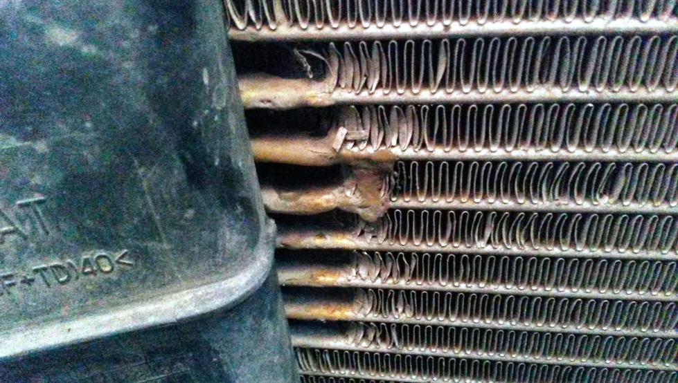 алюминиевый радиатор после пайки