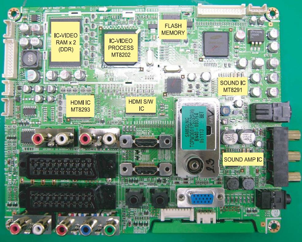 майн-плата ЖК ТВ Samsung LE26S81B