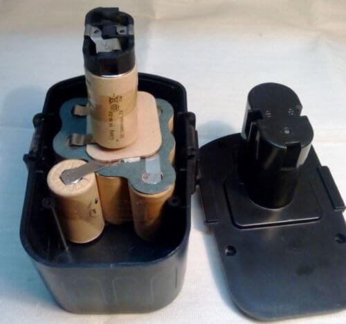 разборка аккумулятора от шуруповерта