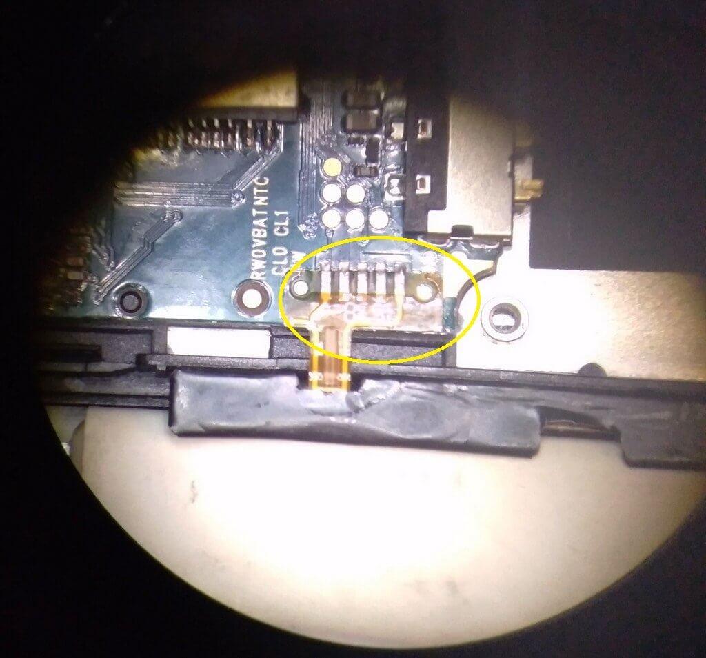 отпаиваем шлейф смартфона BQS 5065 с боковыми кнопками
