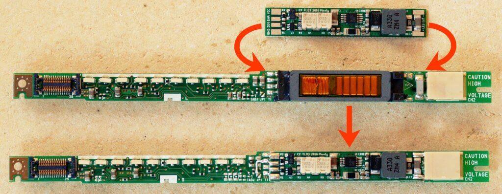 внешний вид инверторов подсветки экрана ноутбука