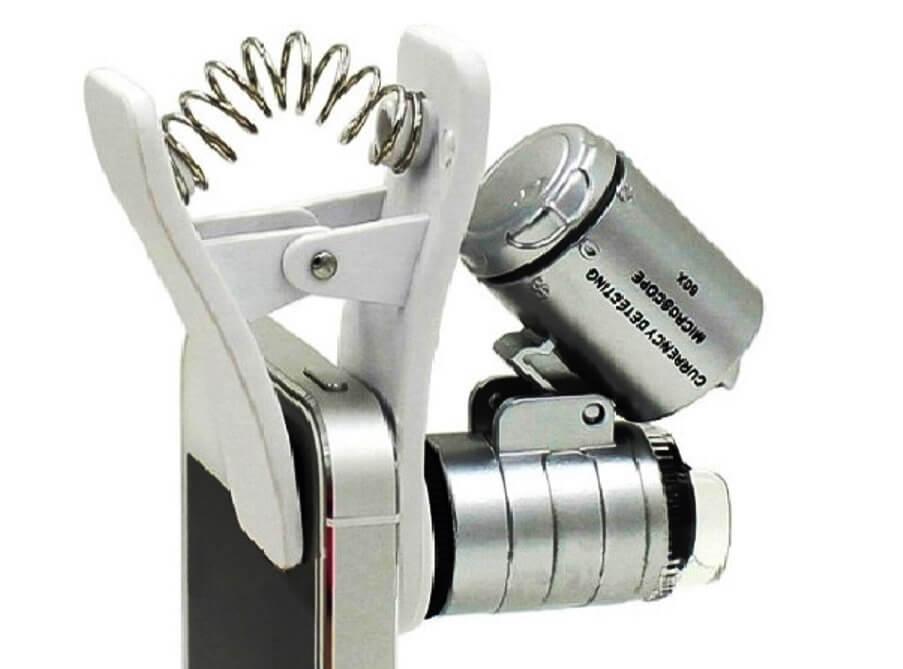 насадка для микроскопа из мобильного телефона