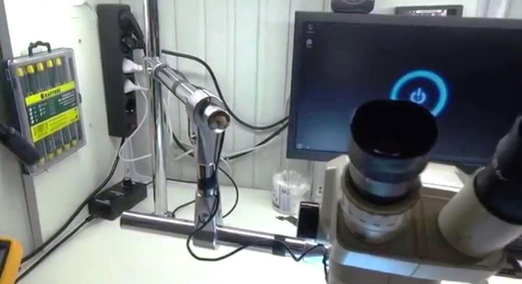 штатив своими руками для микроскопа для пайки микросхем