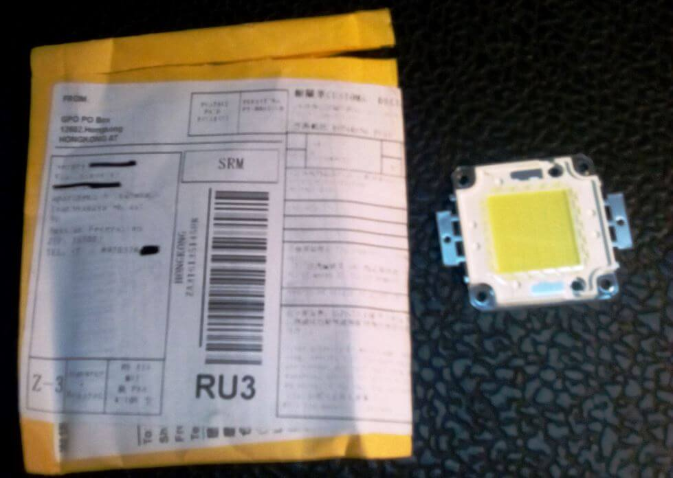 светодиодный модуль пришел по почте с алиэкспресс
