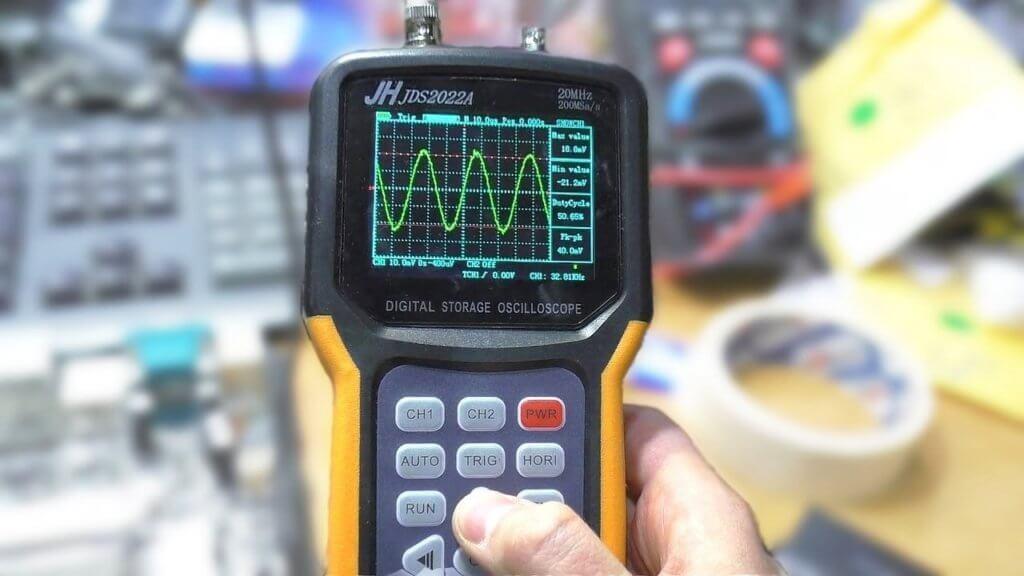 портативный осциллограф с мультиметром jds2022a