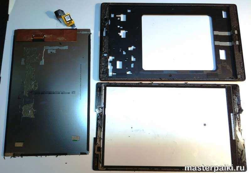 как снять тачскрин и дисплей отдельно планшета Lenovo TAB 2 A8-50CL