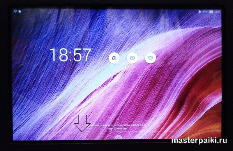 полоска на изображении планшета ASUS Transformer Pad TF103C